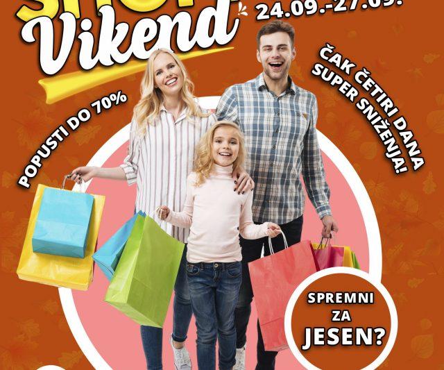 VELIKI JESENJI SHOPPING VIKEND U SC ETNI! 24-27.09.